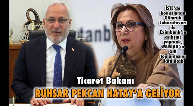 RUHSAR PEKCAN HATAY'A GELİYOR