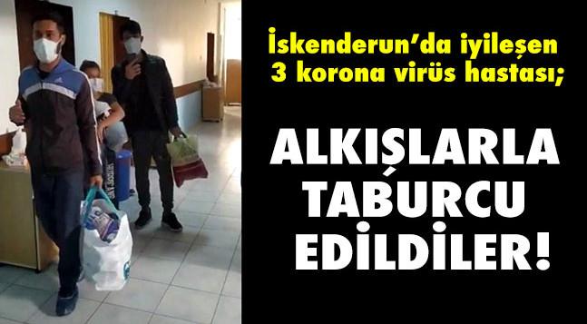 ALKIŞLARLA TABURCU EDİLDİLER!