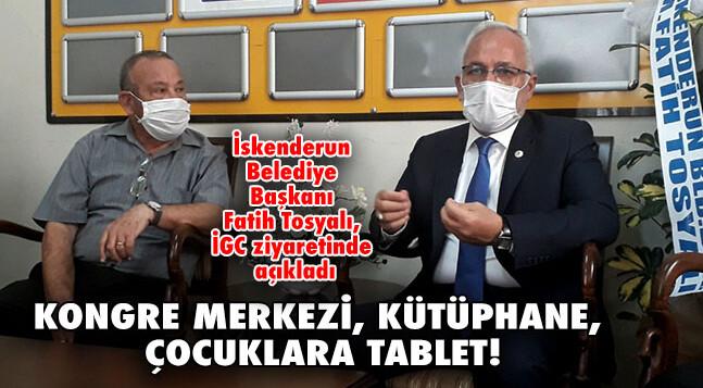 KONGRE MERKEZİ, KÜTÜPHANE, ÇOCUKLARA TABLET!